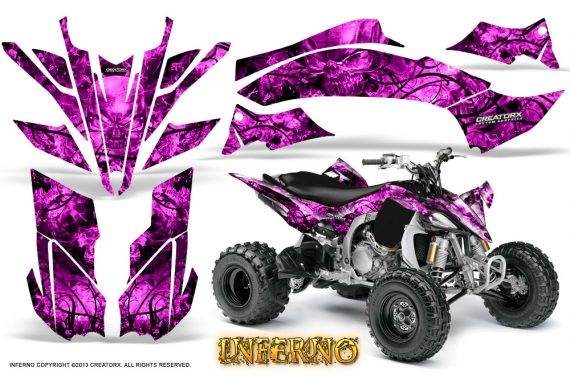 Yamaha YFZ450 09 12 CreatorX Graphics Kit Inferno Pink 570x376 - Yamaha YFZ 450R/SE 2009-2013 Graphics