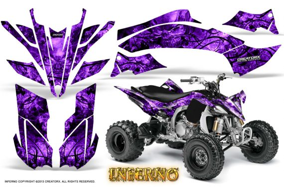 Yamaha YFZ450 09 12 CreatorX Graphics Kit Inferno Purple 570x376 - Yamaha YFZ 450R/SE 2009-2013 Graphics