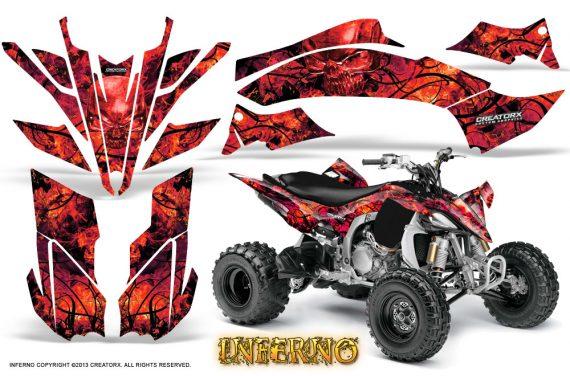 Yamaha YFZ450 09 12 CreatorX Graphics Kit Inferno Red 570x376 - Yamaha YFZ 450R/SE 2009-2013 Graphics