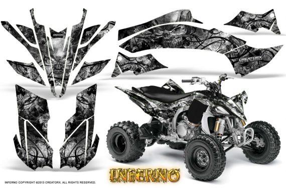 Yamaha YFZ450 09 12 CreatorX Graphics Kit Inferno Silver 570x376 - Yamaha YFZ 450R/SE 2009-2013 Graphics