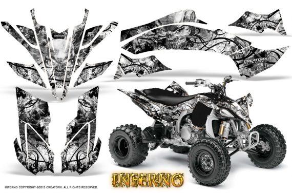 Yamaha YFZ450 09 12 CreatorX Graphics Kit Inferno White 570x376 - Yamaha YFZ 450R/SE 2009-2013 Graphics
