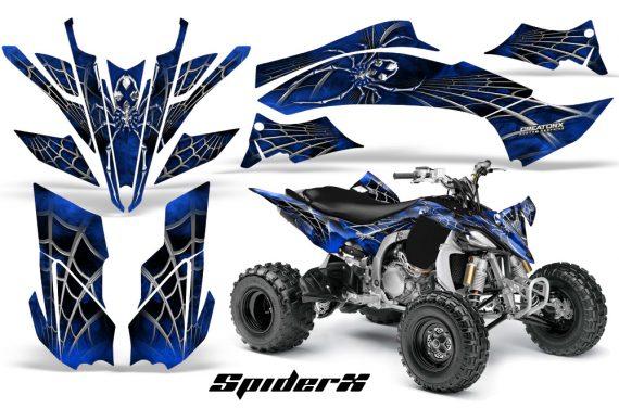 Yamaha YFZ450 09 12 CreatorX Graphics Kit SpiderX Blue 570x376 - Yamaha YFZ 450R/SE 2009-2013 Graphics