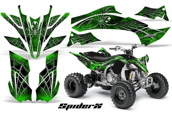 Yamaha YFZ450 09 12 CreatorX Graphics Kit SpiderX Green 570x376 - Yamaha YFZ 450R/SE 2009-2013 Graphics