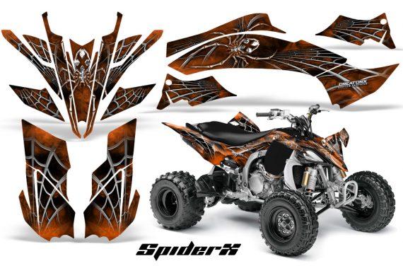 Yamaha YFZ450 09 12 CreatorX Graphics Kit SpiderX Orange 570x376 - Yamaha YFZ 450R/SE 2009-2013 Graphics