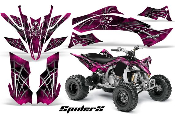 Yamaha YFZ450 09 12 CreatorX Graphics Kit SpiderX Pink 570x376 - Yamaha YFZ 450R/SE 2009-2013 Graphics
