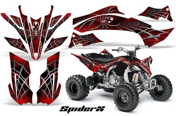 Yamaha YFZ450 09 12 CreatorX Graphics Kit SpiderX Red 570x376 - Yamaha YFZ 450R/SE 2009-2013 Graphics