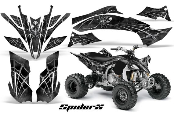 Yamaha YFZ450 09 12 CreatorX Graphics Kit SpiderX Silver 570x376 - Yamaha YFZ 450R/SE 2009-2013 Graphics
