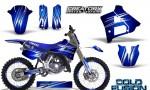Yamaha YZ125 91 92 CreatorX Graphics Kit Cold Fusion Blue NP Rims 150x90 - Yamaha YZ125 2 Stroke 1991-1992 Graphics