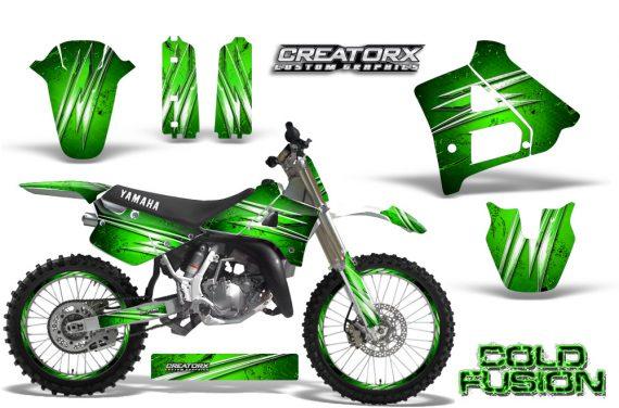 Yamaha YZ125 91 92 CreatorX Graphics Kit Cold Fusion Green NP Rims 570x376 - Yamaha YZ125 2 Stroke 1991-1992 Graphics