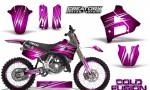Yamaha YZ125 91 92 CreatorX Graphics Kit Cold Fusion Pink NP Rims 150x90 - Yamaha YZ125 2 Stroke 1991-1992 Graphics