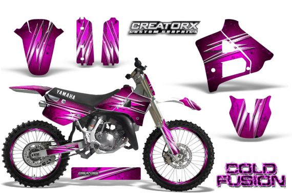 Yamaha YZ125 91 92 CreatorX Graphics Kit Cold Fusion Pink NP Rims 570x376 - Yamaha YZ125 2 Stroke 1991-1992 Graphics