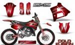 Yamaha YZ125 91 92 CreatorX Graphics Kit Cold Fusion Red NP Rims 150x90 - Yamaha YZ125 2 Stroke 1991-1992 Graphics