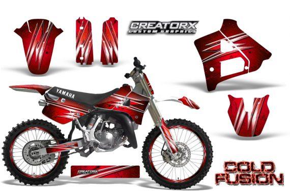Yamaha YZ125 91 92 CreatorX Graphics Kit Cold Fusion Red NP Rims 570x376 - Yamaha YZ125 2 Stroke 1991-1992 Graphics