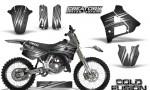 Yamaha YZ125 91 92 CreatorX Graphics Kit Cold Fusion Silver NP Rims 150x90 - Yamaha YZ125 2 Stroke 1991-1992 Graphics