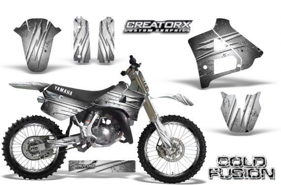 Yamaha YZ125 91 92 CreatorX Graphics Kit Cold Fusion White NP Rims 570x376 - Yamaha YZ125 2 Stroke 1991-1992 Graphics