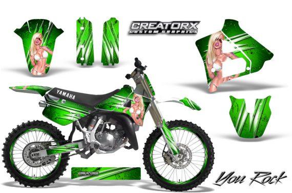 Yamaha YZ125 91 92 CreatorX Graphics Kit You Rock Green NP Rims 570x376 - Yamaha YZ125 2 Stroke 1991-1992 Graphics