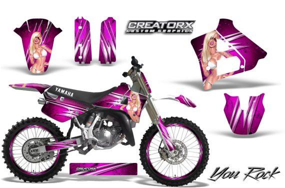 Yamaha YZ125 91 92 CreatorX Graphics Kit You Rock Pink NP Rims 570x376 - Yamaha YZ125 2 Stroke 1991-1992 Graphics