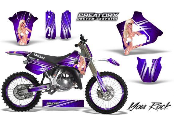 Yamaha YZ125 91 92 CreatorX Graphics Kit You Rock Purple NP Rims 570x376 - Yamaha YZ125 2 Stroke 1991-1992 Graphics