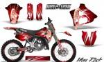 Yamaha YZ125 91 92 CreatorX Graphics Kit You Rock Red NP Rims 150x90 - Yamaha YZ125 2 Stroke 1991-1992 Graphics