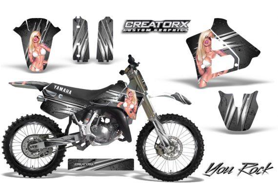 Yamaha YZ125 91 92 CreatorX Graphics Kit You Rock Silver NP Rims 570x376 - Yamaha YZ125 2 Stroke 1991-1992 Graphics