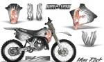 Yamaha YZ125 91 92 CreatorX Graphics Kit You Rock White NP Rims 150x90 - Yamaha YZ125 2 Stroke 1991-1992 Graphics