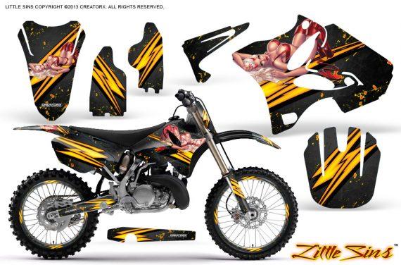 Yamaha YZ125 YZ250 02 12 CreatorX Graphics Kit Little Sins Black NP Rims 570x376 - Yamaha YZ125 YZ250 2 Stroke 2002-2014 Graphics