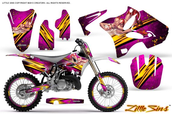 Yamaha YZ125 YZ250 02 12 CreatorX Graphics Kit Little Sins Pink NP Rims 570x376 - Yamaha YZ125 YZ250 2 Stroke 2002-2014 Graphics