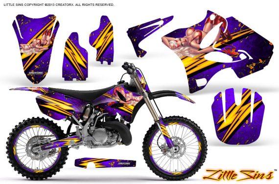 Yamaha YZ125 YZ250 02 12 CreatorX Graphics Kit Little Sins Purple NP Rims 570x376 - Yamaha YZ125 YZ250 2 Stroke 2002-2014 Graphics