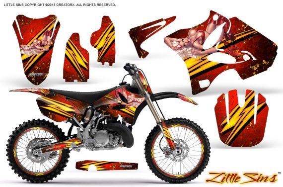 Yamaha YZ125 YZ250 02 12 CreatorX Graphics Kit Little Sins Red NP Rims 570x376 - Yamaha YZ125 YZ250 2 Stroke 2002-2014 Graphics
