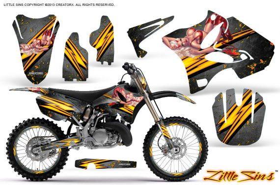 Yamaha YZ125 YZ250 02 12 CreatorX Graphics Kit Little Sins Silver NP Rims 570x376 - Yamaha YZ125 YZ250 2 Stroke 2002-2014 Graphics
