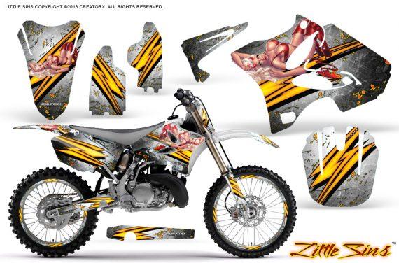 Yamaha YZ125 YZ250 02 12 CreatorX Graphics Kit Little Sins White NP Rims 570x376 - Yamaha YZ125 YZ250 2 Stroke 2002-2014 Graphics
