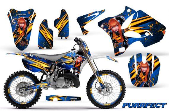 Yamaha YZ125 YZ250 02 12 CreatorX Graphics Kit Purrfect Blue WB NP Rims 570x376 - Yamaha YZ125 YZ250 2 Stroke 2002-2014 Graphics