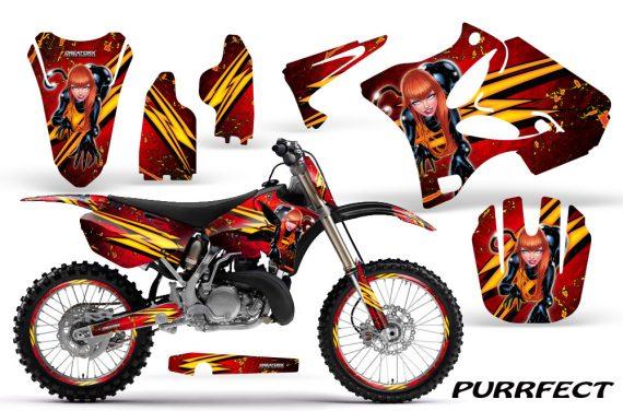Yamaha YZ125 YZ250 02 12 CreatorX Graphics Kit Purrfect Red NP Rims 570x376 - Yamaha YZ125 YZ250 2 Stroke 2002-2014 Graphics