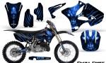 Yamaha YZ125 YZ250 02 12 CreatorX Graphics Kit Skull Chief Blue NP Rims 150x90 - Yamaha YZ125 YZ250 2 Stroke 2002-2014 Graphics