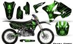 Yamaha YZ125 YZ250 02 12 CreatorX Graphics Kit Skull Chief Green NP Rims 150x90 - Yamaha YZ125 YZ250 2 Stroke 2002-2014 Graphics