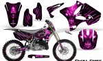 Yamaha YZ125 YZ250 02 12 CreatorX Graphics Kit Skull Chief Pink NP Rims 150x90 - Yamaha YZ125 YZ250 2 Stroke 2002-2014 Graphics