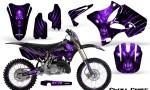 Yamaha YZ125 YZ250 02 12 CreatorX Graphics Kit Skull Chief Purple NP Rims 150x90 - Yamaha YZ125 YZ250 2 Stroke 2002-2014 Graphics