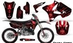 Yamaha YZ125 YZ250 02 12 CreatorX Graphics Kit Skull Chief Red NP Rims 150x90 - Yamaha YZ125 YZ250 2 Stroke 2002-2014 Graphics