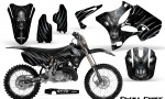 Yamaha YZ125 YZ250 02 12 CreatorX Graphics Kit Skull Chief Silver NP Rims 150x90 - Yamaha YZ125 YZ250 2 Stroke 2002-2014 Graphics