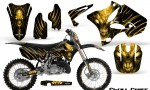 Yamaha YZ125 YZ250 02 12 CreatorX Graphics Kit Skull Chief Yellow NP Rims 150x90 - Yamaha YZ125 YZ250 2 Stroke 2002-2014 Graphics