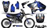 Yamaha YZ125 YZ250 02 12 CreatorX Graphics Kit Skulls n Bolts Solid Blue Black NP Rims 150x90 - Yamaha YZ125 YZ250 2 Stroke 2002-2014 Graphics