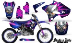 Yamaha YZ125 YZ250 02 12 CreatorX Graphics Kit Skulls n Bolts Solid Pink Blue NP Rims 150x90 - Yamaha YZ125 YZ250 2 Stroke 2002-2014 Graphics