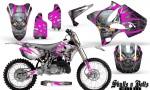 Yamaha YZ125 YZ250 02 12 CreatorX Graphics Kit Skulls n Bolts Solid Pink White NP Rims 150x90 - Yamaha YZ125 YZ250 2 Stroke 2002-2014 Graphics