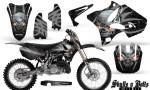Yamaha YZ125 YZ250 02 12 CreatorX Graphics Kit Skulls n Bolts Solid Silver Black NP Rims 150x90 - Yamaha YZ125 YZ250 2 Stroke 2002-2014 Graphics