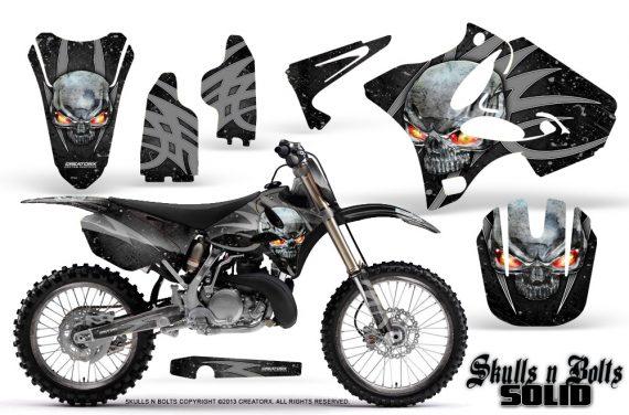 Yamaha YZ125 YZ250 02 12 CreatorX Graphics Kit Skulls n Bolts Solid Silver Black NP Rims 570x376 - Yamaha YZ125 YZ250 2 Stroke 2002-2014 Graphics