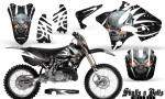 Yamaha YZ125 YZ250 02 12 CreatorX Graphics Kit Skulls n Bolts Solid White Black NP Rims 150x90 - Yamaha YZ125 YZ250 2 Stroke 2002-2014 Graphics
