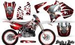 Yamaha YZ125 YZ250 02 12 CreatorX Graphics Kit Skulls n Bolts Solid White Red NP Rims 150x90 - Yamaha YZ125 YZ250 2 Stroke 2002-2014 Graphics