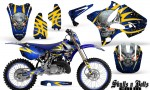 Yamaha YZ125 YZ250 02 12 CreatorX Graphics Kit Skulls n Bolts Solid Yellow Blue NP Rims 150x90 - Yamaha YZ125 YZ250 2 Stroke 2002-2014 Graphics