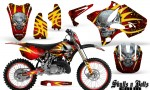 Yamaha YZ125 YZ250 02 12 CreatorX Graphics Kit Skulls n Bolts Solid Yellow Red NP Rims 150x90 - Yamaha YZ125 YZ250 2 Stroke 2002-2014 Graphics