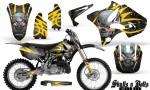 Yamaha YZ125 YZ250 02 12 CreatorX Graphics Kit Skulls n Bolts Solid Yellow Silver NP Rims 150x90 - Yamaha YZ125 YZ250 2 Stroke 2002-2014 Graphics